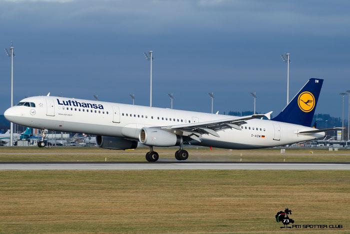 D-AIDM A321-231 4916 Lufthansa @ Munich Airport  12.2016 © Piti Spotter Club Verona