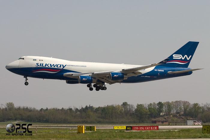 4K-SW888 B747-4R7F 29730/1203 Silk Way West Airlines @ Milano Malpensa Airport 06.04.2014 © Piti Spotter Club Verona