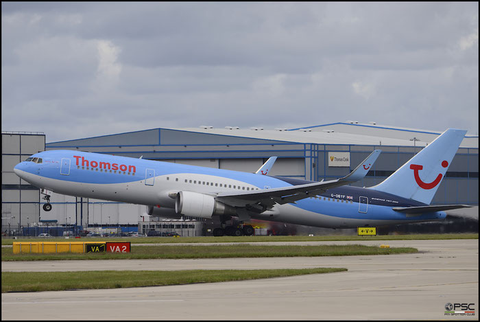 G-OBYF B767-304ER 28208/705 Thomson Airways @ Manchester Airport 21.06.2015 © Piti Spotter Club Verona