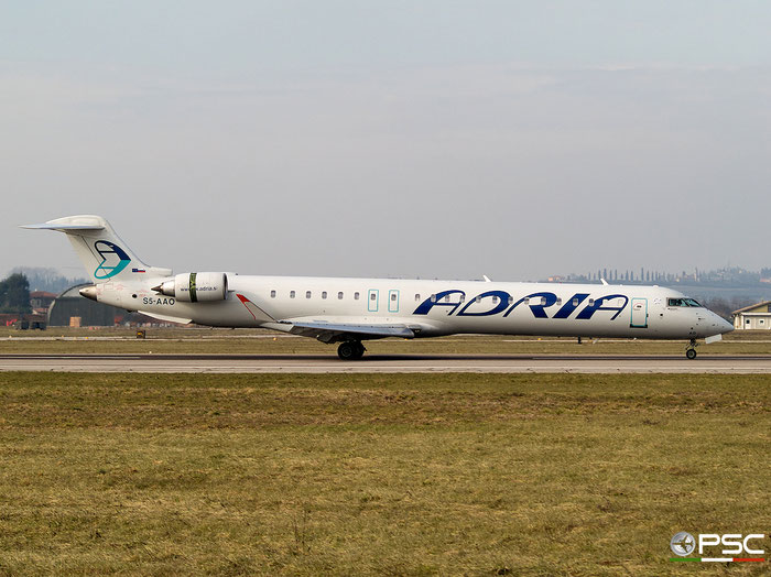 S5-AAO CRJ900LR 15215 Adria Airways @ Aeroporto di Verona 2007  © Piti Spotter Club Verona