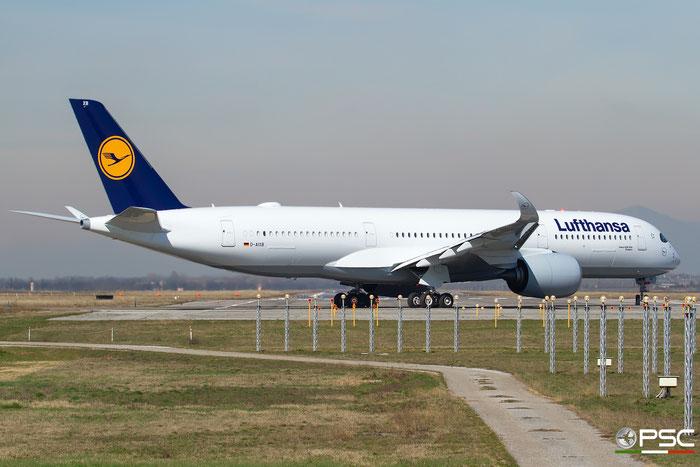 D-AIXB A350-941 80 Lufthansa @ Brescia Airport 04.03.2017  © Piti Spotter Club Verona