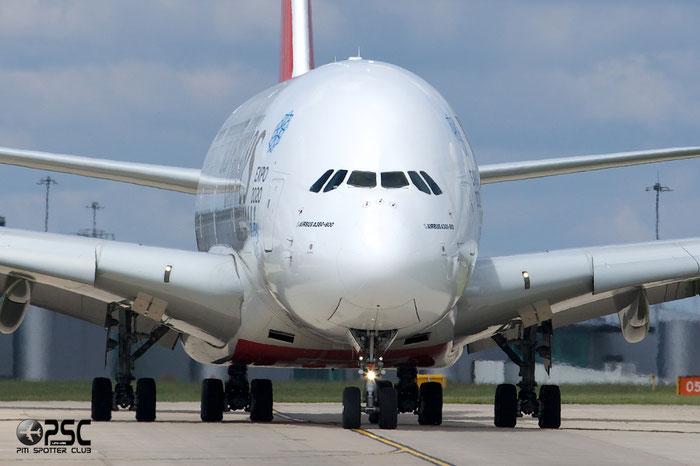 A6-EDP A380-861 77 Emirates @ Manchester Airport 13.05.2014 © Piti Spotter Club Verona