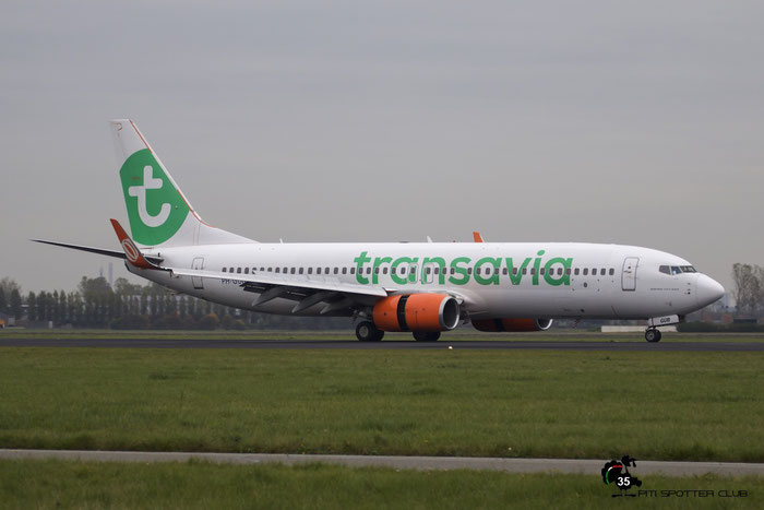 PH-GUB B737-8EH 35832/3309 Transavia Airlines @ Amsterdam Airport 24.10.2015  © Piti Spotter Club Verona