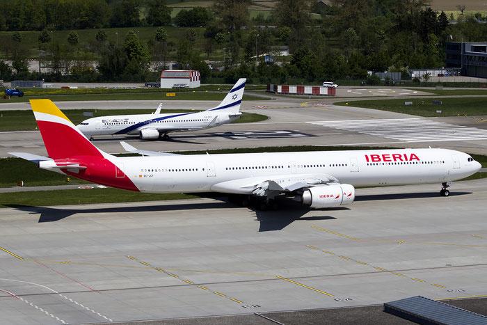 EC-JCY A340-642 617 Iberia Líneas Aéreas de España @ Zurich Airport 05.2016 © Piti Spotter Club Verona