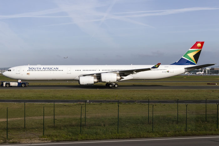 ZS-SNI A340-642 630 South African Airways @ Frankfurt Airport 08.05.2015 © Piti Spotter Club Verona