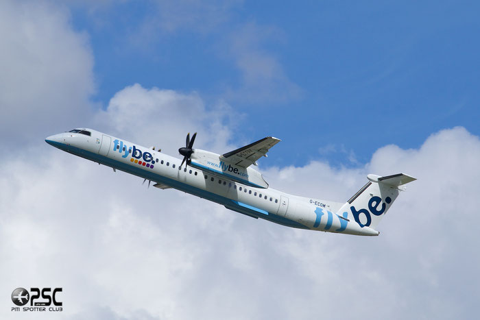 G-ECOM DHC-8-402 4233 Flybe - British European  @ Manchester Airport 13.05.2014 © Piti Spotter Club Verona