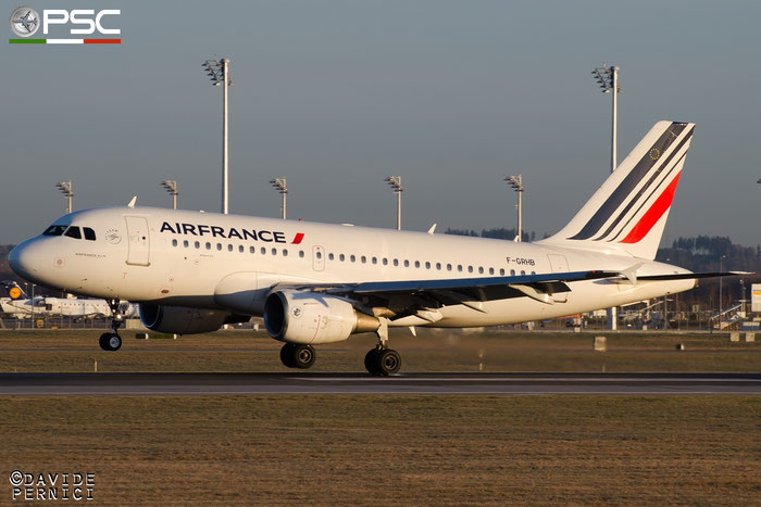 F-GRHB A319-111 985 Air France @ Munich Airport 13.12.2015 © Piti Spotter Club Verona