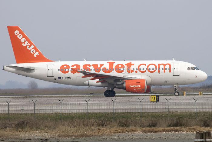 G-EZAK A319-111 2744 EasyJet Airline @ Venezia Airport 12.03.2015 © Piti Spotter Club Verona