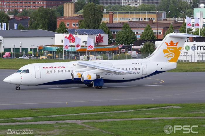 SE-RJI BAe146-RJ100 E3357 BRA - Braathens Regional Airlines @ Stockholm Bromma Airport 19.08.2016 © Piti Spotter Club Verona
