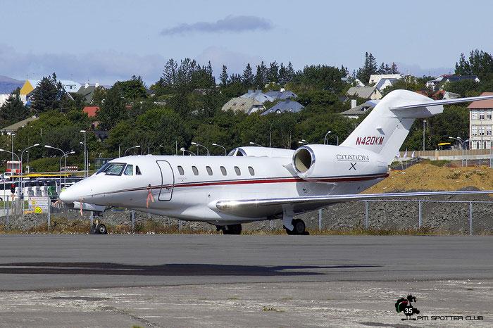 N420KM  Ce750  750-0234  420 Aviation LLC @ Reykjavik 08.2019 © Piti Spotter Club Verona