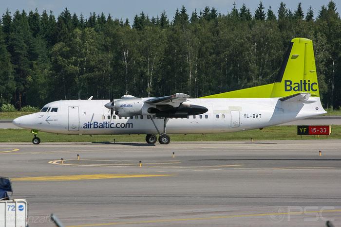 YL-BAT Fokker 50 20163 airBaltic @ Helsinki Airport 2007 © Piti Spotter Club Verona