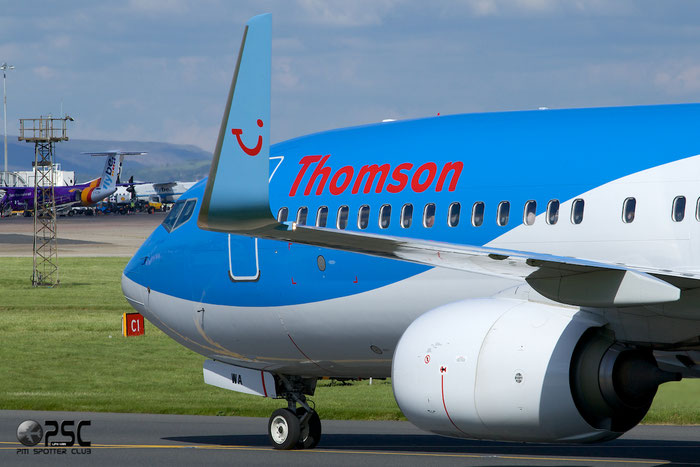 G-TAWA B737-8K5 37264/3907 Thomson Airways @ Manchester Airport 13.05.2014  © Piti Spotter Club Verona