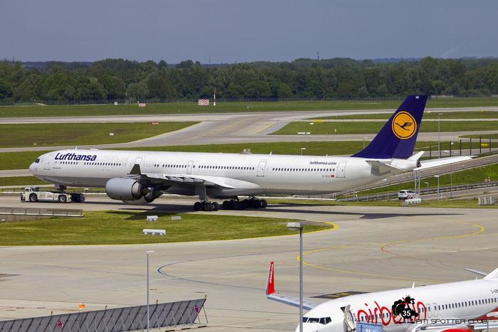 D-AIHU A340-642 848 Lufthansa @ Munich Airport 15.05.2016 © Piti Spotter Club Verona