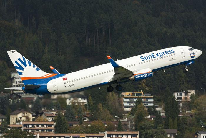 TC-SNR B737-8HC 40754/3352 SunExpress @ Innsbruck Airport 10.2014 © Piti Spotter Club Verona