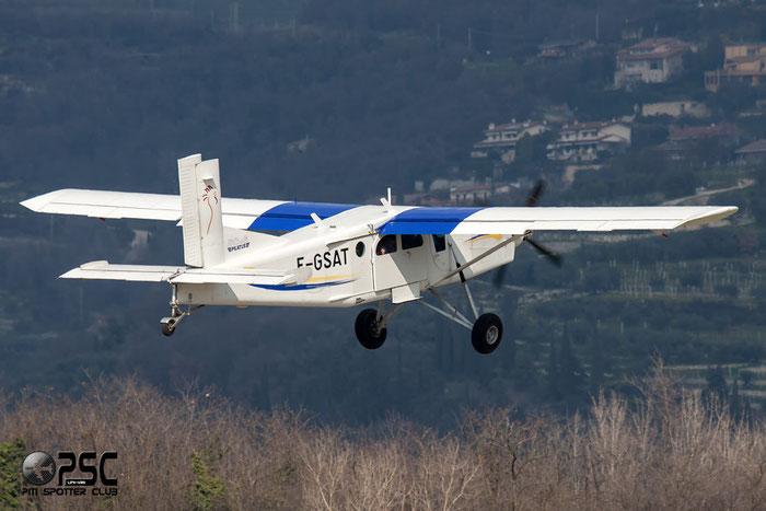 F-GSAT Pilatus PC-6/B2-H4 PC6T 904 Scuola Paracadutistica Veronese, Verona IT @ Aeroporto Verona Boscomantico © Piti Spotter Club Verona