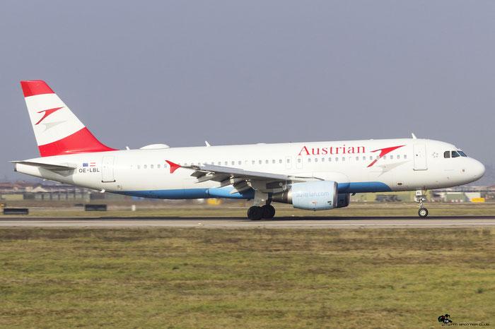 OE-LBL A320-214 2009 Austrian Airlines @ Aeroporto di Verona 10.02.2018  © Piti Spotter Club Verona