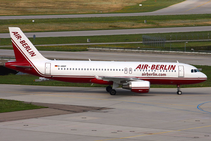 D-ABDP A320-214 3093 Air Berlin @ Munich Airport 05.2009 © Piti Spotter Club Verona