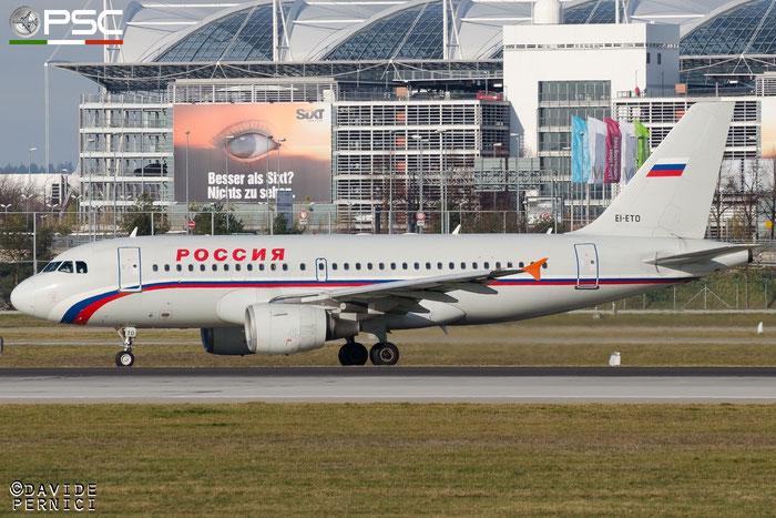 EI-ETO A319-111 1679 Rossiya - Russian Airlines @ Munich Airport 13.12.2015 © Piti Spotter Club Verona