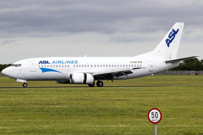 EI-STA B737-31S 29057/2942 ASL Airlines Ireland @ Dublin Airport 14.08.2016 © Piti Spotter Club Verona