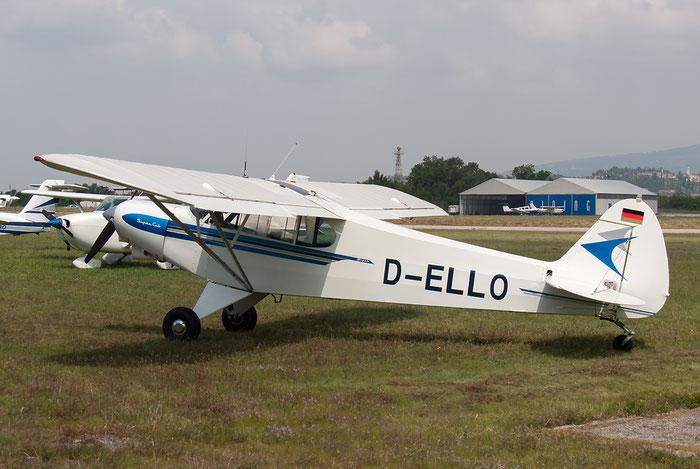 D-ELLO Piper PA-18 PA18 @ Aeroporto Verona Boscomantico © Piti Spotter Club Verona
