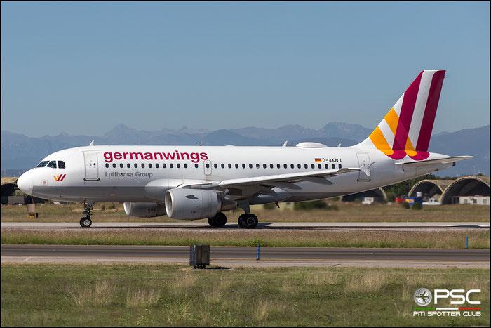 D-AKNJ A319-112 1172 Germanwings @ Aeroporto di Verona 30.09.2018  © Piti Spotter Club Verona