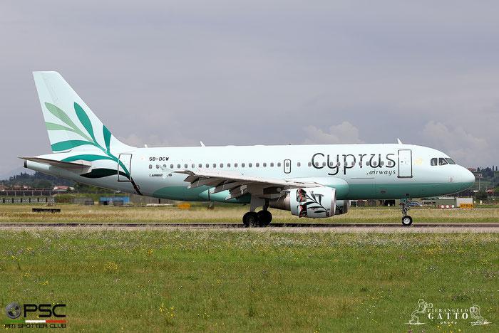 5B-DCW A319-114 1129 Cyprus Airways @ Aeroporto di Verona 13.06.2018  © Piti Spotter Club Verona