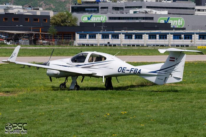 OE-FBA Diamond DA-42 NG Twin Star @ Aeroporto di Bolzano © Piti Spotter Club Verona