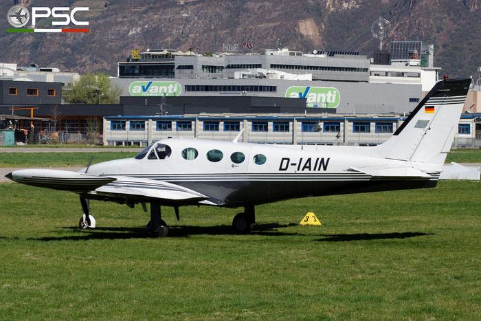 D-IAIN Cessna 340A Private @ Aeroporto di Bolzano © Piti Spotter Club Verona