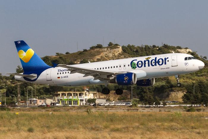 D-AICE A320-212 894 Condor Flugdienst @ Rhodes Airport 08.2015 © Piti Spotter Club Verona