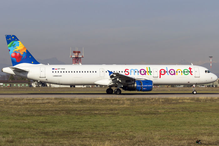 SP-HAX A321-211 2903 Small Planet Airlines Poland @ Aeroporto di Verona 20.01.2018  © Piti Spotter Club Verona