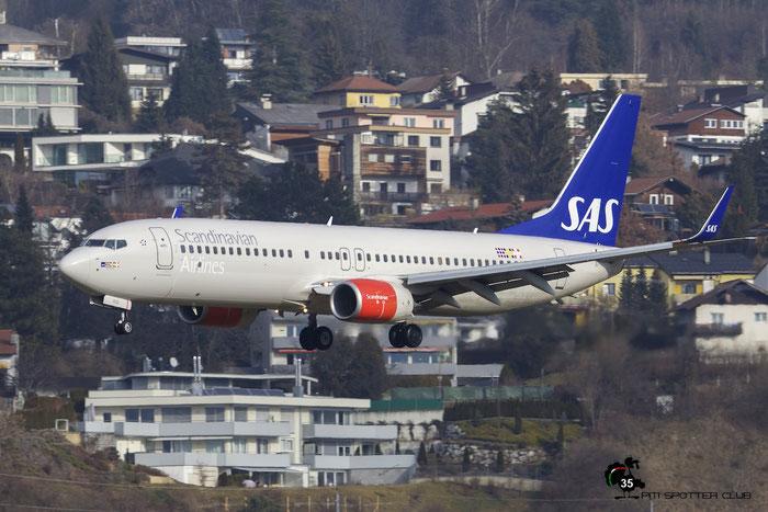 LN-RGD B737-86N 41258/4393 SAS Scandinavian Airlines - Scandinavian Airlines System  @ Innsbruck Airport 09.01.2016 © Piti Spotter Club Verona