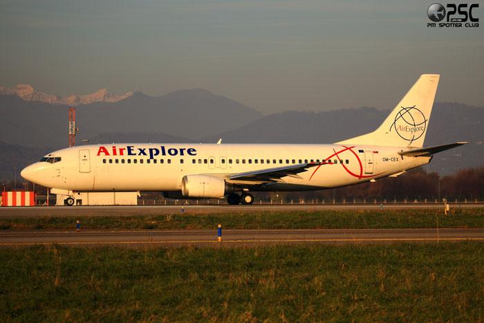 OM-CEX B737-436 25839/2188 AirExplore @ Bergamo Airport 07.12.2013 © Piti Spotter Club Verona