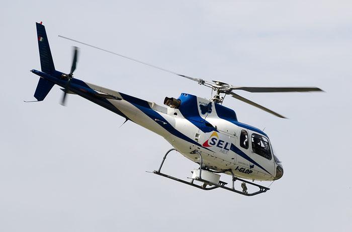I-GLOP - Aérospatiale AS 350BA Ecureuil - Butterfly Helicopters @ Aeroporto di Bolzano © Piti Spotter Club Verona