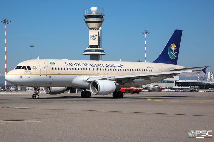 HZ-ASC A320-214 4337 Saudia - Saudi Arabian Airlines @ Milano Malpensa Airport 28.03.2017 © Piti Spotter Club Verona