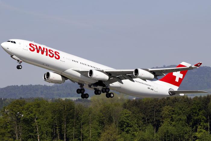 HB-JME A340-313E 559 Swiss International Air Lines @ Zurich Airport 05.2016 © Piti Spotter Club Verona