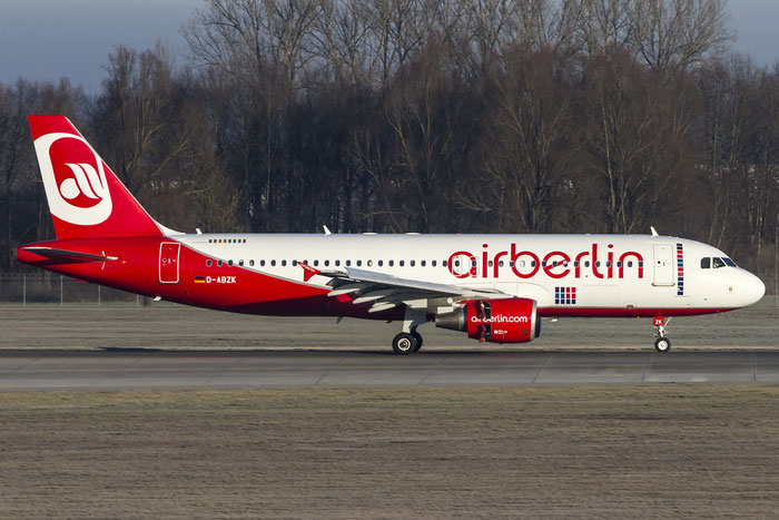 D-ABZK A320-216 3213 Air Berlin @ Munich Airport 28.12.2015 © Piti Spotter Club Verona
