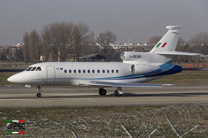 I-SEAR Falcon 900EX-EASy 183 Servizi Aerei SpA @ Milano Linate Airport 30.12.2014 © Piti Spotter Club Verona