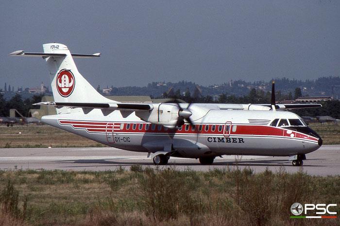 OY-CIC ATR42-310 024 Cimber Air © courtesy of Marco Ceschi - Piti Spotter Club Verona