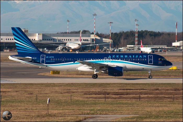 4K-AZ78 A320-214 2853 Azerbaijan Airlines - AZAL @ Milano Malpensa Airport 31.01.2015 © Piti Spotter Club Verona