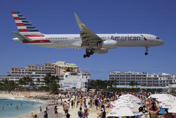N201UU B757-2B7 27810/678 American Airlines @ Sint Maarten Airport 05.03.2016 © Piti Spotter Club Verona