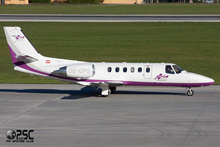 OE-GPS Ce550 Bravo 550-0837 Tyrol Air Ambulance @ Innsbruck Airport 26.10.2013 © Piti Spotter Club Verona