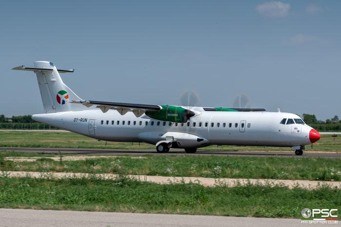 OY-RUN ATR72-212A 1519 Danish Air Transport @ Aeroporto di Verona 07.2019  © Piti Spotter Club Verona