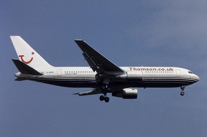 G-BRIG B767-204ER 24757/299 Britannia Airways (Thomson c/s) @ Aeroporto di Verona © Piti Spotter Club Verona