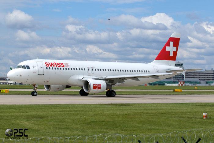 HB-IJU A320-214 1951 Swiss International Air Lines @ Manchester Airport 13.05.2014 © Piti Spotter Club Verona