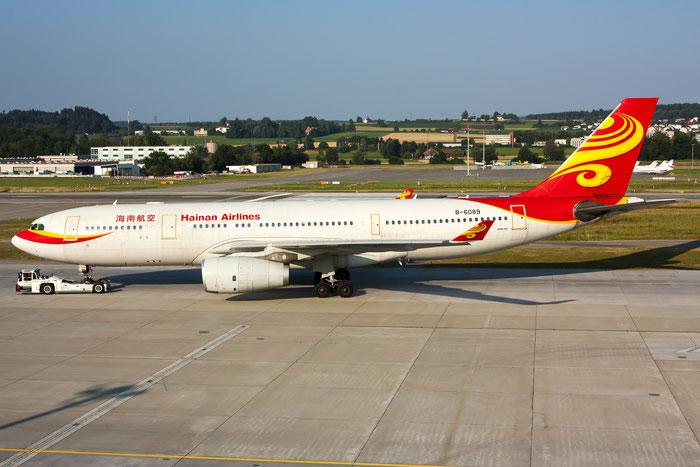 B-6089 A330-243 919 Hainan Airlines @ Zurich Airport 20.07.2013 © Piti Spotter Club Verona