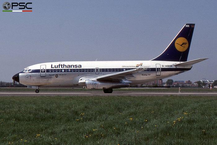 D-ABHK B737-230 22136/783 Lufthansa © 2018 courtesy of Marco Ceschi - Piti Spotter Club Verona