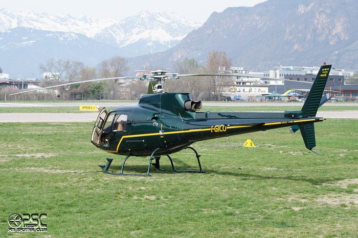 I-GICO - Airline: Private Aircraft: Aérospatiale AS 350B1 Ecureuil @ Aeroporto di Bolzano © Piti Spotter Club Verona
