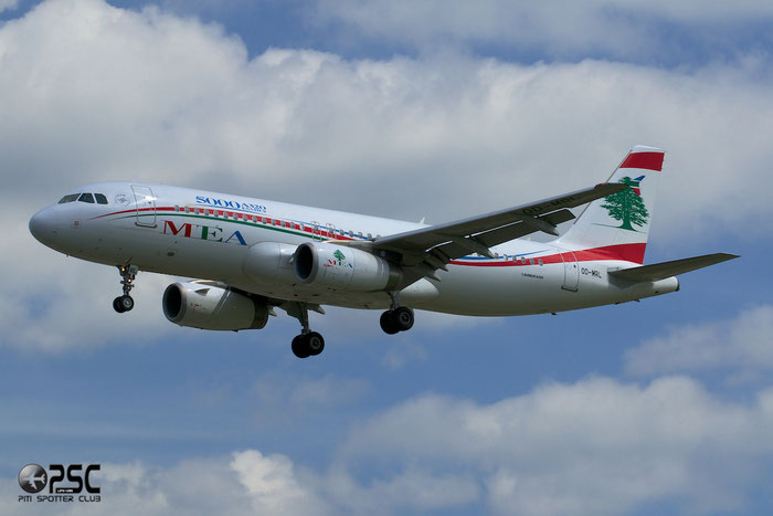 OD-MRL A320-232 5000 MEA - Middle East Airlines @ London Heathrow Airport 14.06.2014 © Piti Spotter Club Verona