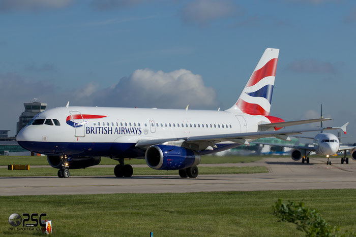 G-EUPT A319-131 1380 British Airways @ Manchester Airport 13.05.2014 © Piti Spotter Club Verona