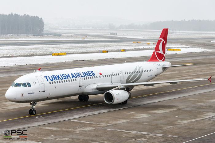 TC-JML A321-231 3382 Turkish Airlines - THY Türk Hava Yollari @ Zurich Airport 21.01.2017 © Piti Spotter Club Verona